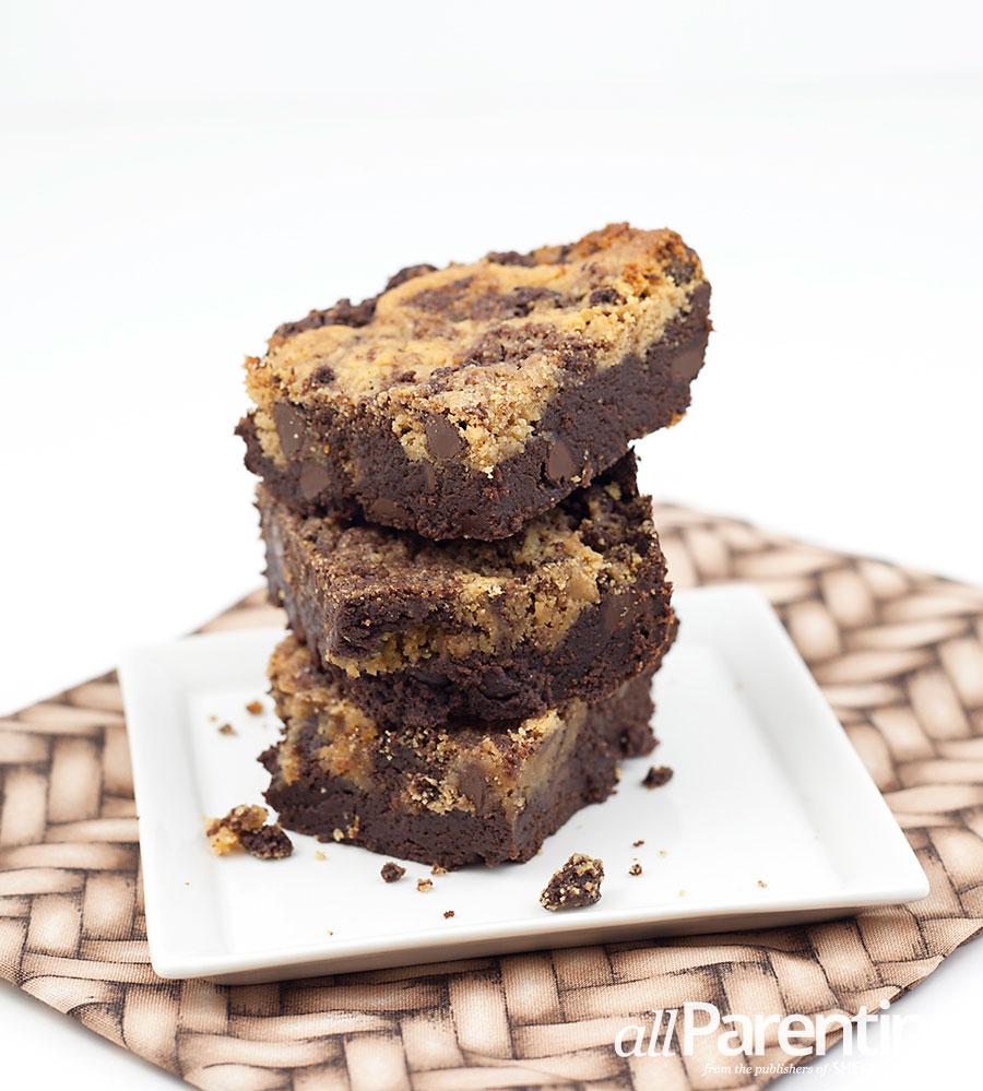 allParenting Chocolate peanut butter swirl brownies