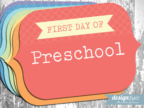 Printable First Day of School Signs, Pre-K through Grade 12