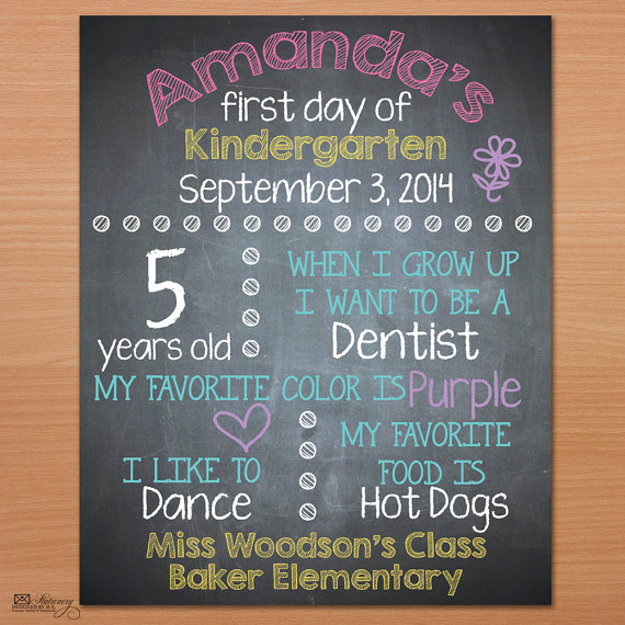 Back to school printables and signs from etsy for First day of school sign template