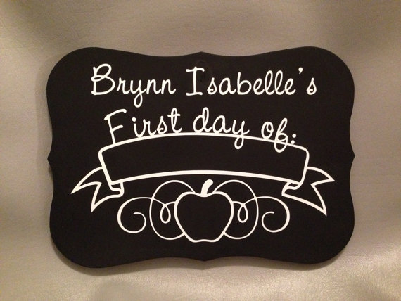 Back-to-School 2-Sided First and Last Day Chalkboard Sign