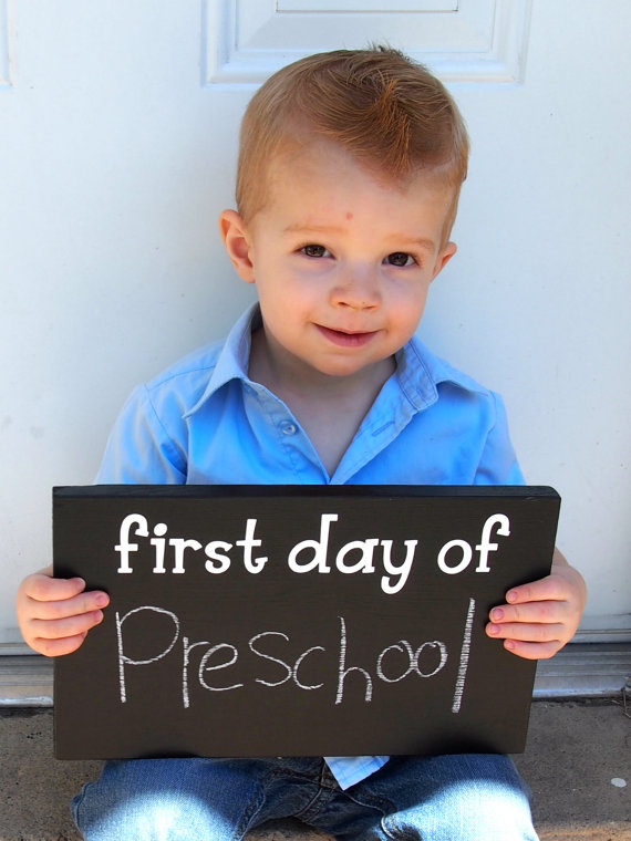 First Day of School Chalkboard Sign Prop