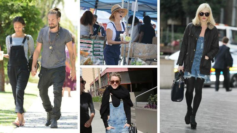 Celebrities wearing overalls