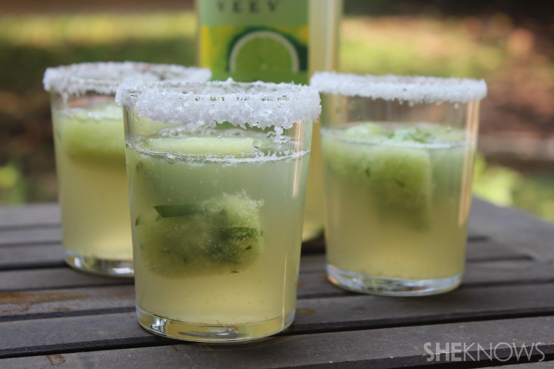 Cucumber basil ice