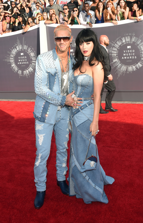 Katy Perry recreates a classic Britney Spears red carpet look