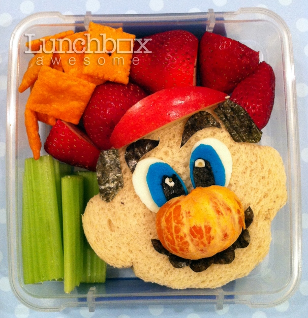 Mario inspired school lunch for kids