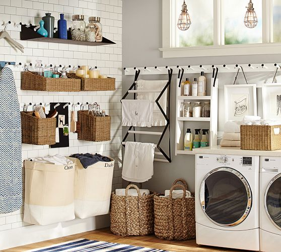 Forget fifty shades of grey this is real mommy hotness for Pottery barn laundry room