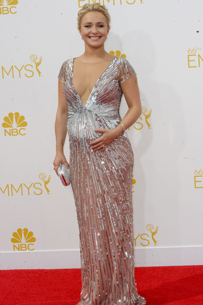 Pregnant Hayden Panettiere at Emmy's
