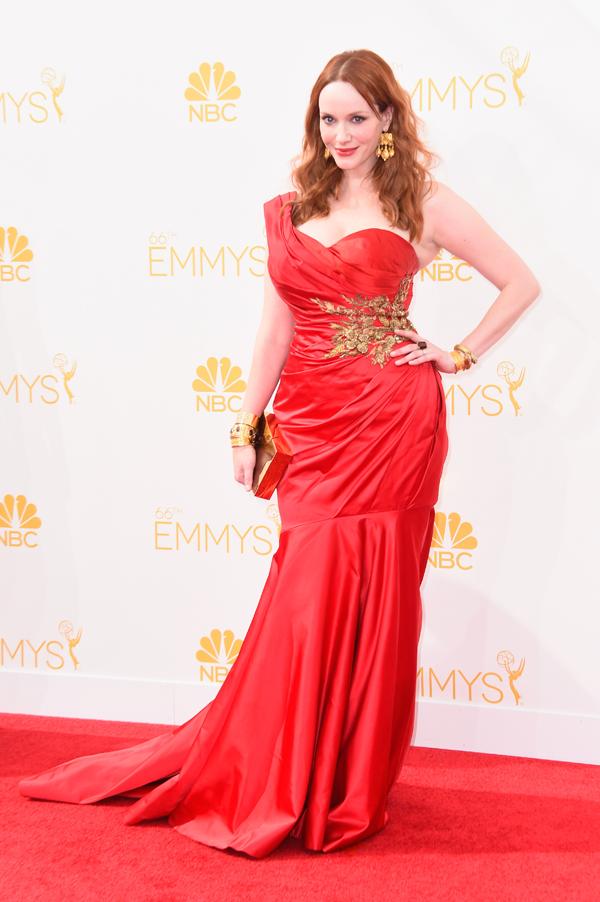 Christina Hendricks at the 2014 Emmys