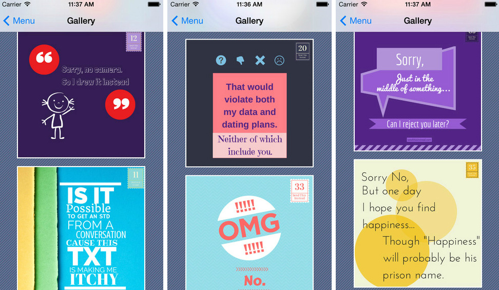 Send This Instead app gives teens witty responses to requests for naked pics
