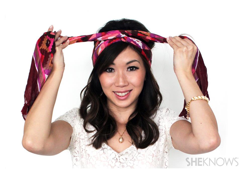 how to make a scarf into a headband