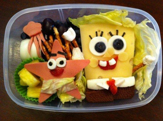 Spongebox Squarepants school lunch for kids