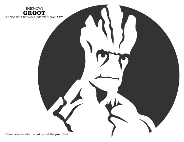 The gallery for gt groot pumpkin template