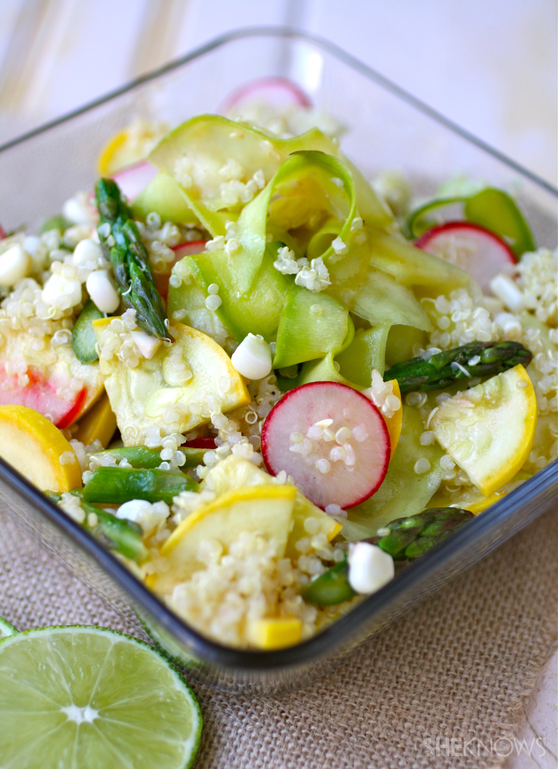 Vegetable ceviche and quinoa salad