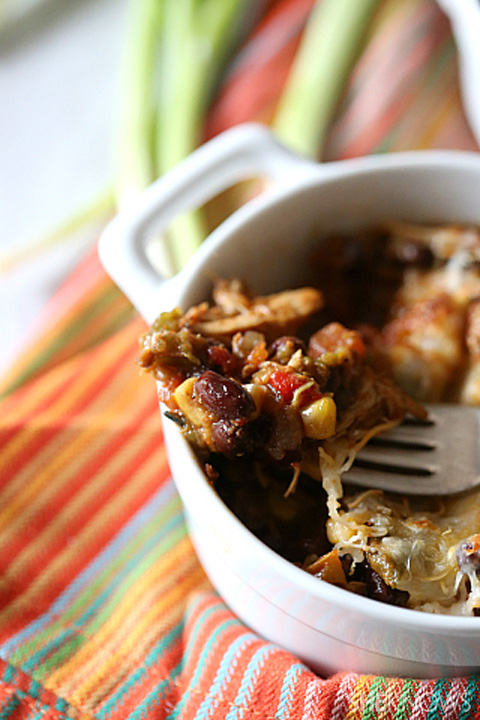 Chicken black bean southwest bake