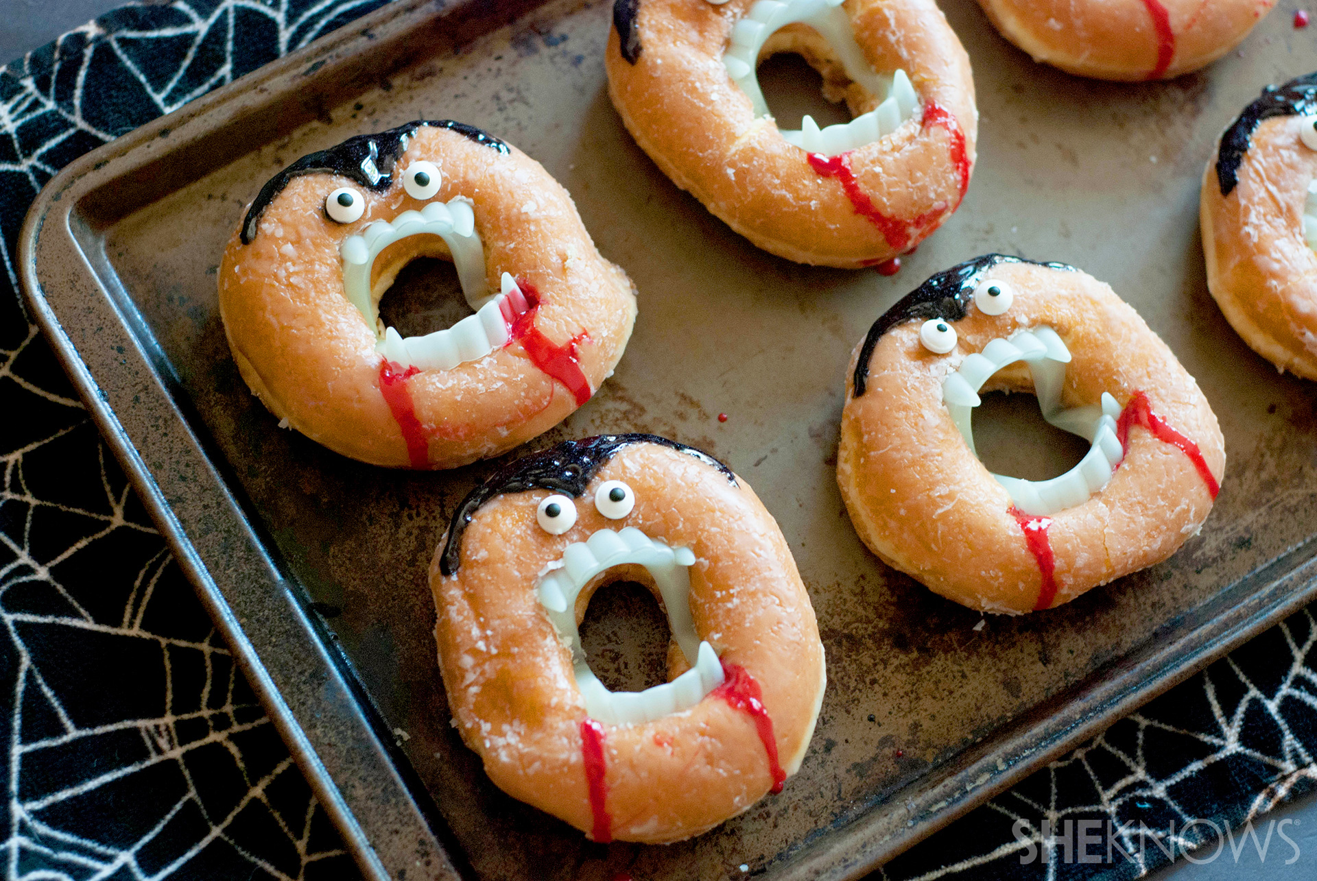 Turn Doughnuts Into A Creepy No Bake Vampire Treat