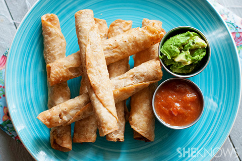 Easy baked black bean flautas recipe