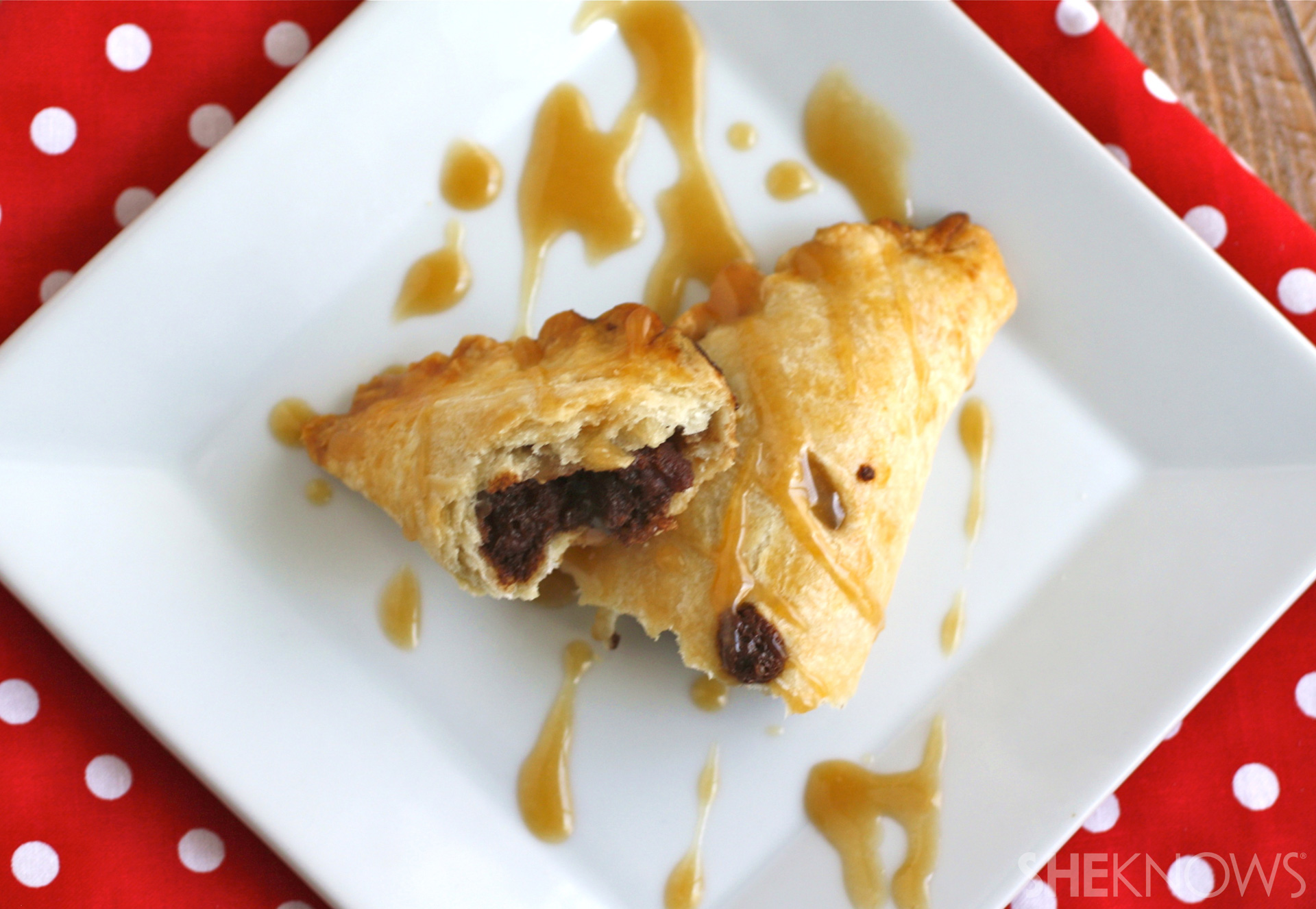 ... hand pies made with chocolate and pecans are a portable dessert