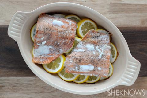 Lemon-baked salmon