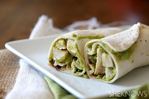 Chicken bacon avocado wrap