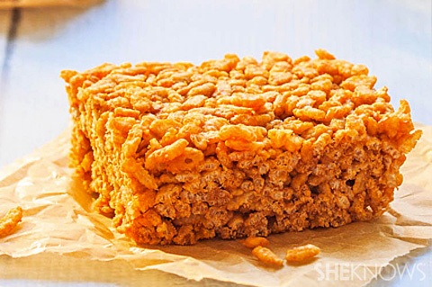 Chewy brown rice bars