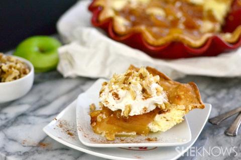 Cheesecake & caramel apple pie