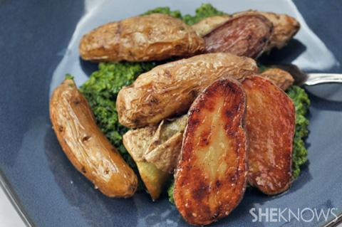 Crispy oven-roasted fingerling potatoes