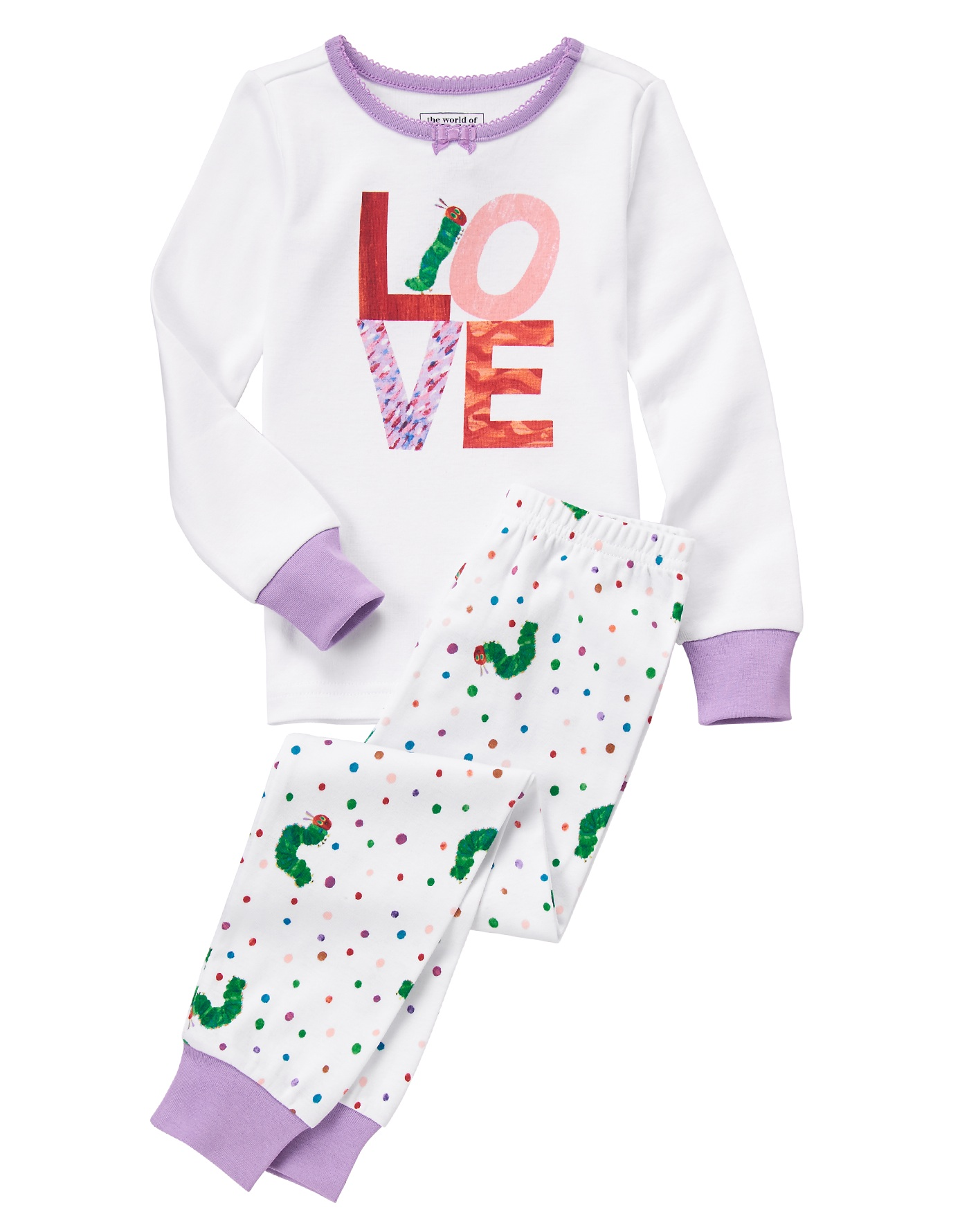 The Very Hungry Caterpillar LOVE jammies