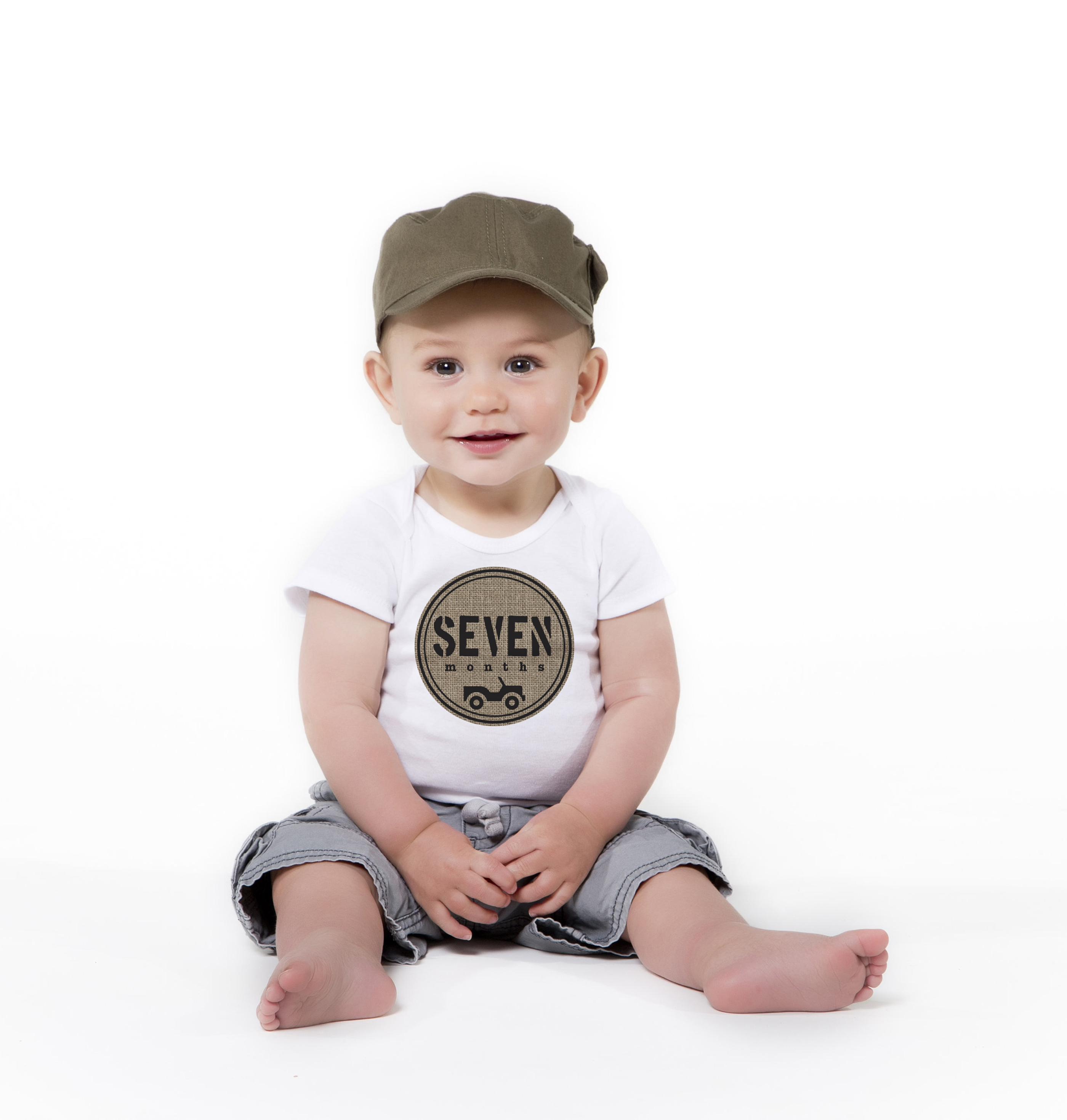 Milestone stickers: Little Trooper