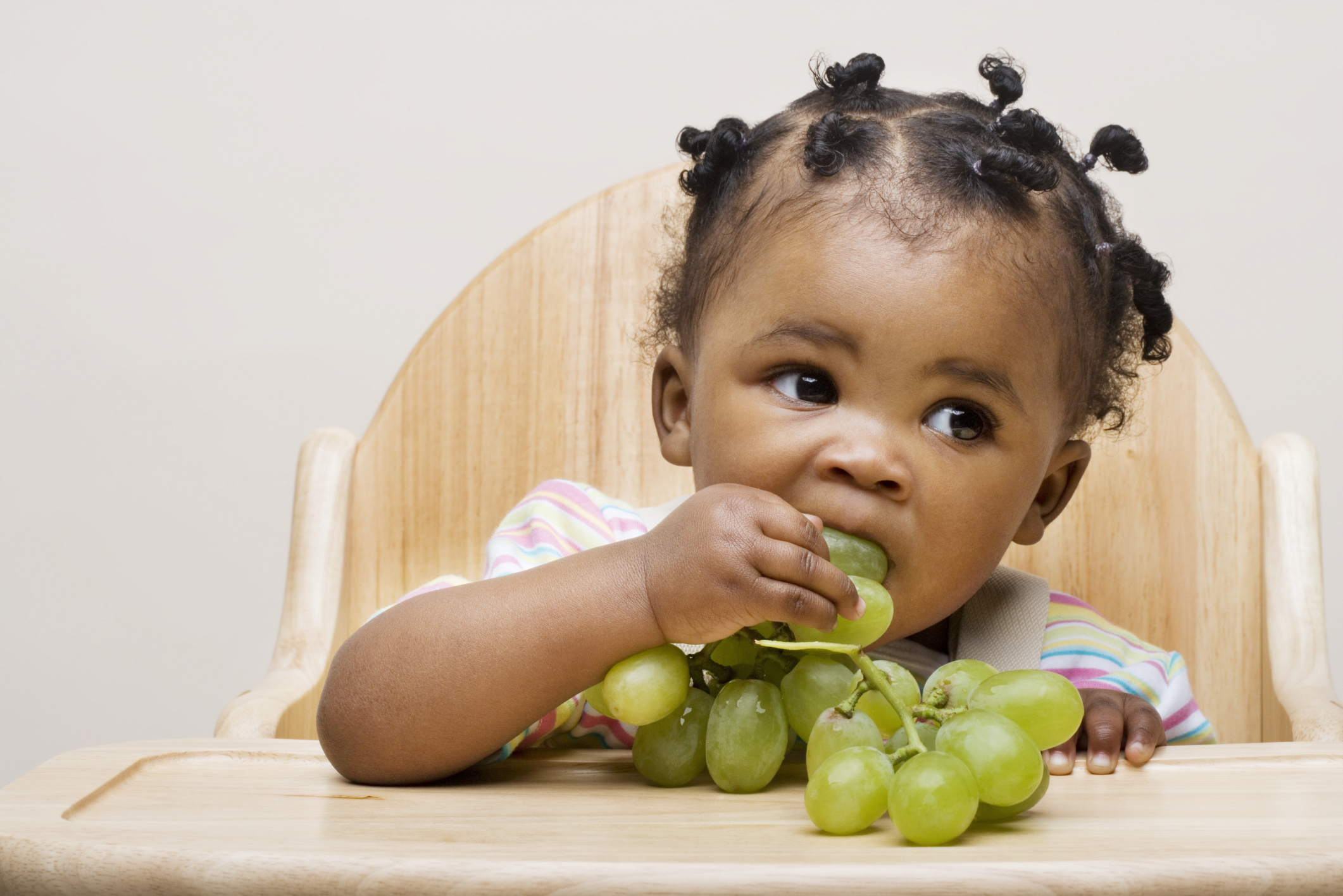 Tips for cutting grapes for baby