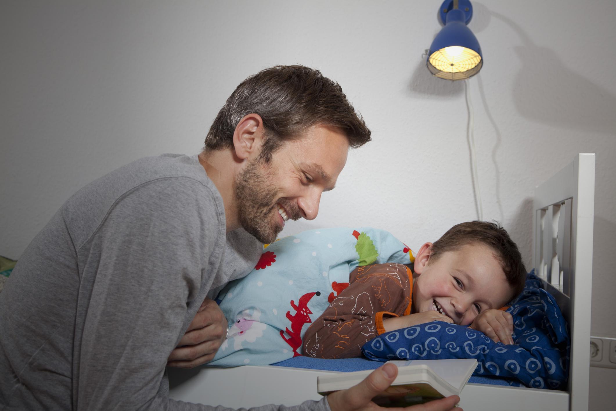 Reading a bedtime book