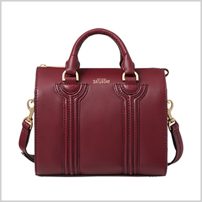 Kate Spade Saturday All Along Mini Satchel in Cherry Red (saturday.com, $185)