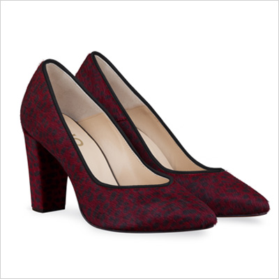 DUO Dia Court Shoe in Red Cheetah