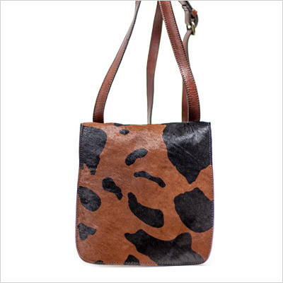 Patricia Nash Granada Crossbody in Black Pony Print