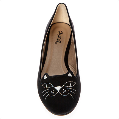 Smiling Cat Flats in Black (dailylook.com, $25)