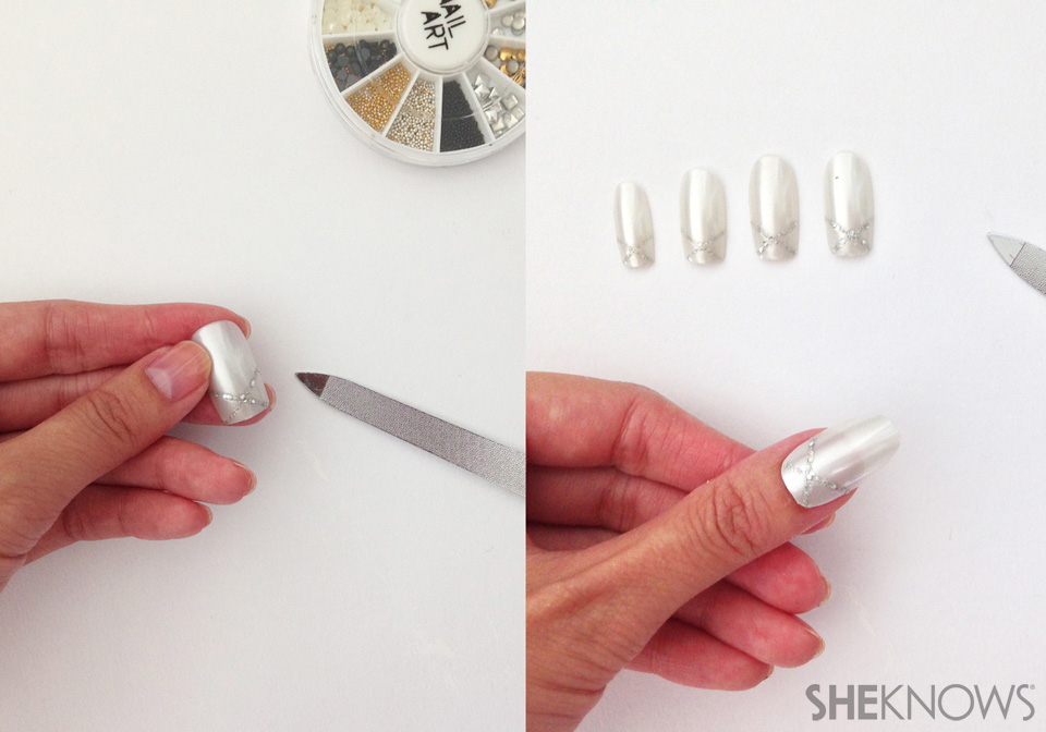 Dramatic flip manicure: Step 2: Prepare your nail pieces