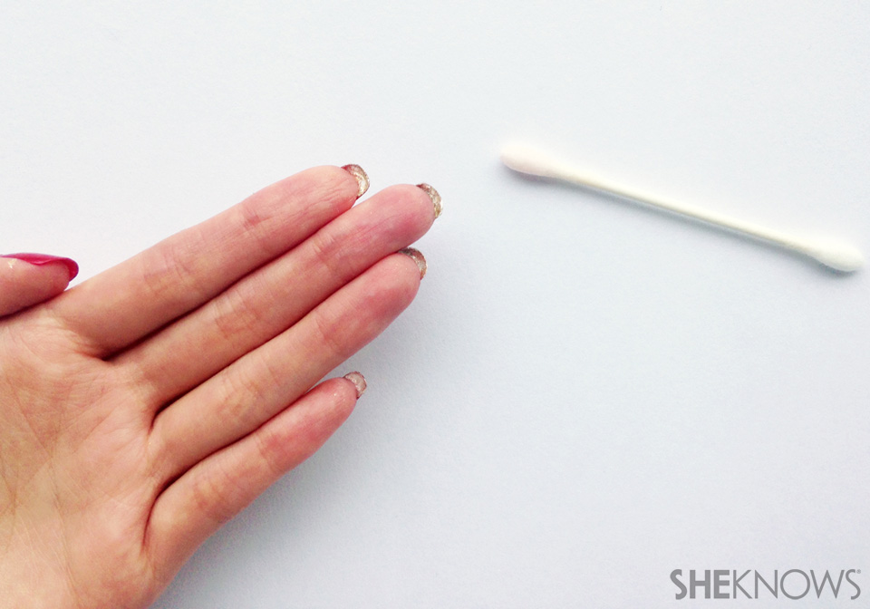 Flip manicure for natural nails: Step 4: Clean up