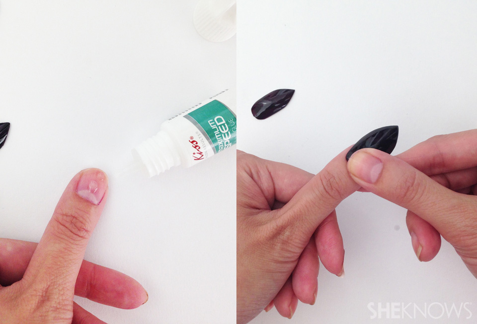 Step 6: Apply your artificial nails