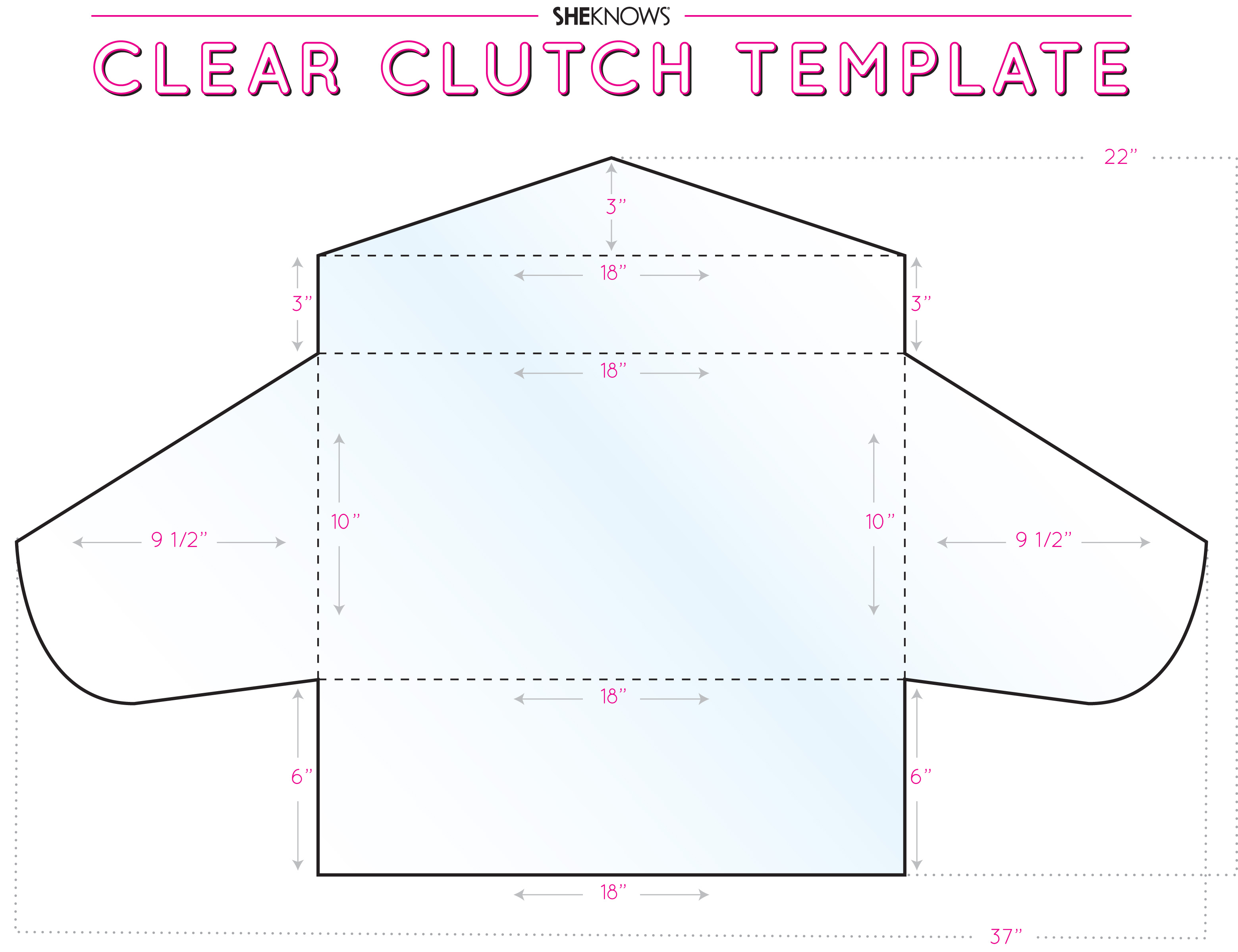 Clear vinyl clutch template