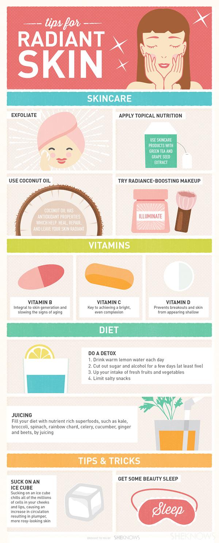 5 Tips for radiant skin
