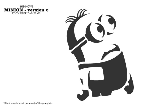 Sly image in minion pumpkin stencil printable