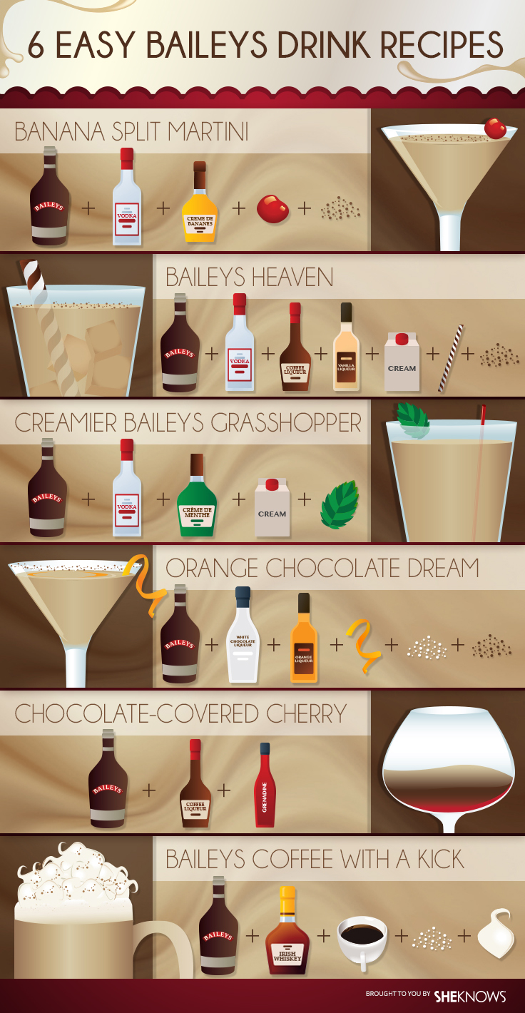 6 easy baileys drink recipes for Easy to make drinks