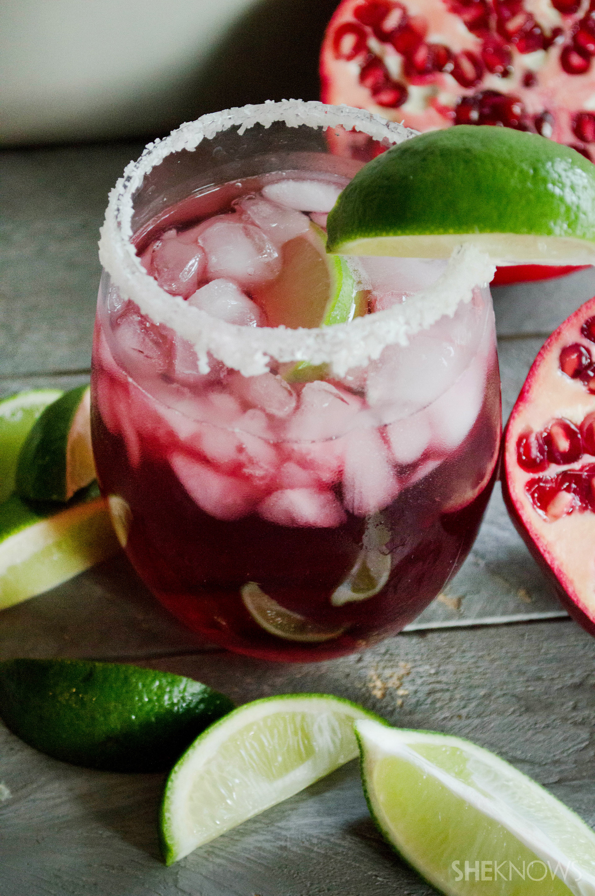 Pomegranate-passion fruit margaritas are the perfect cocktail for fall