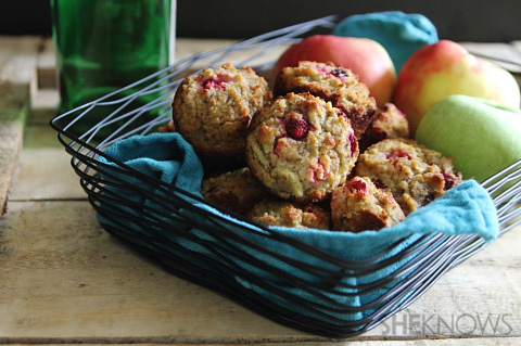 Grain free apple cranberry muffins