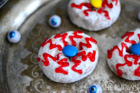 Zombie eye donuts