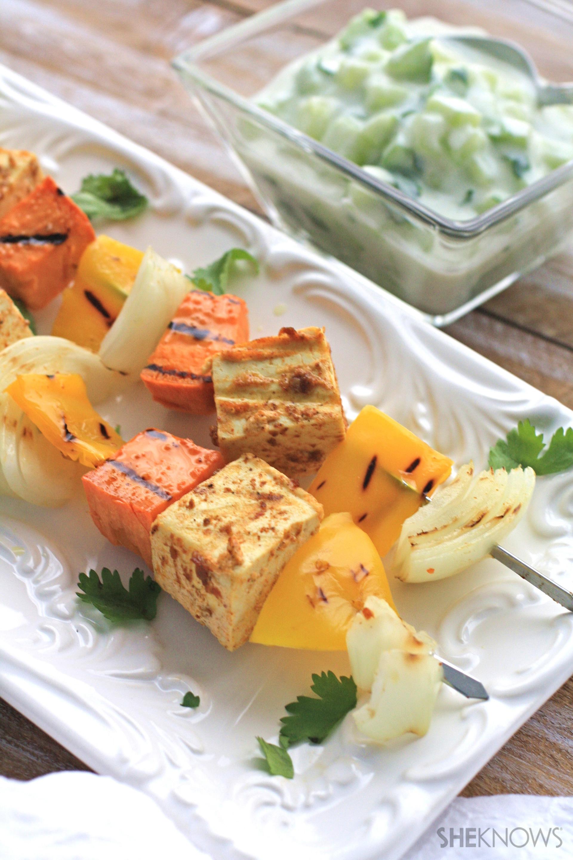 Meatless Monday: Grilled tandoori tofu with creamy cucumber salad