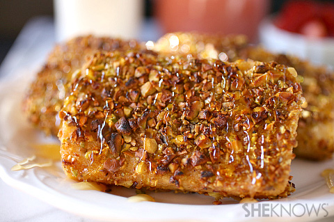 Nut crusted spiced French toast