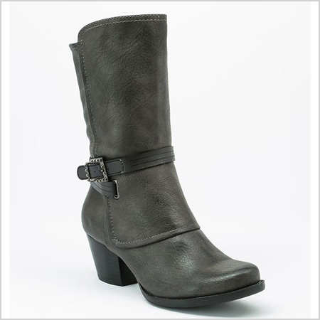BareTraps Roxie Boot in Dark Grey (footwearunlimited.com, $100)