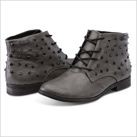Volcom Exhibition Grey Studded Low Cut Boots