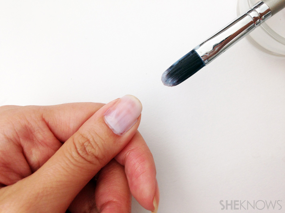 DIY peel off base coat Step 3