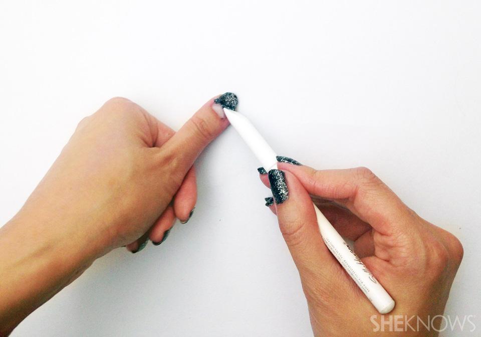 DIY peel off base coat Step 6